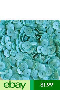 1000 AB-Aqua Blue 7mm Round Paillette Cup Loose Sequins Sewing Wedding Art Craft