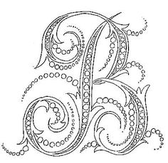 A really neat site for lots of initials CW loves! Embroidery Alphabet, Embroidery Monogram, Hand Embroidery Patterns, Cross Stitch Embroidery, Fancy Letters, Letters And Numbers, Monogram Styles, Monogram Fonts, Alphabet Design