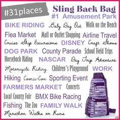 Sling back bag is perfect bag Thirty One Games, Thirty One Fall, Thirty One Party, Thirty One Outlet, Thirty One Organization, 31 Party, Thirty One Business, Thirty One Consultant, 31 Gifts