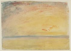 Joseph Mallord William Turner, 'Sunset: Study for 'Flint Castle, on the Welsh Coast'' circa 1830