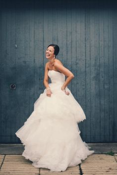 a happy, happy Bride and her gorgeous Pronovias dress Photography by Carla Ten Eyck Photography / carlateneyck.com/