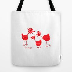 Here chickie! Tote Bag by Anchobee - $22.00