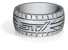 Subaru STI ring - 16 mm (US size 5 1/2) 3d printed