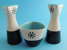 Vintage 1950s Hornsea Pottery Tricorn Salt, Pepper, Mustard Cruet John Clappison | eBay