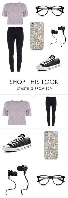 """Untitled #61"" by karenrodriguez-iv on Polyvore featuring Monrow, Paige Denim, Converse, Monster, women's clothing, women's fashion, women, female, woman and misses"