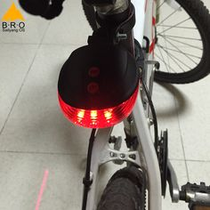 Bisiklet Işık Geceleri Güvenli Bisiklet Aksesuarları 5LED + 2 Lazer Bisiklet Işıkları Yeni Su Geçirmez Bisiklet Işık Arka 7 Flaş Modu var