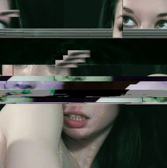 Glitch artwork - utlises digital / analog errors, by corrupting or physically manipulating electronic devices Evanescence, Tumblr, Contortion, Portraits, Glitch Art, Ghost In The Shell, Mode Vintage, Minimal Fashion, Photo Manipulation
