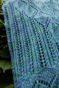 Ravelry: Hydrangea Scarf pattern by Susan Pandorf