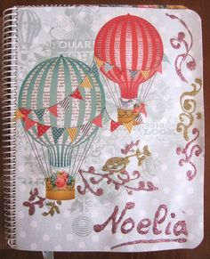 Agenda scrap: The sky is the limitt, my Little Princes!!, hecha con la colección Find your wings and fly de My Minds Eye