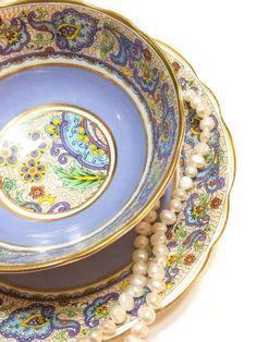 Antique Star Paragon Tea Cup Paisley Chintz by GracesVintageGarden