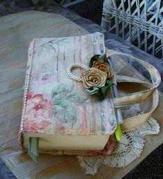 Bible Tote, Bible Cover, Ladies, Handmade,W/Handles. $23.00, via Etsy.