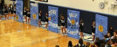 senior night - have ballers step/run thru their own poster when introduced? Volleyball Quotes, Coaching Volleyball, Volleyball Mom, Cheer Coaches, Cheer Mom, Basketball Posters, Volleyball Posters, Basketball Photos, Girls Basketball