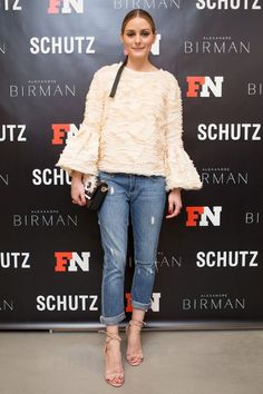 Olivia Palermo at the launch of Alexndre Birman and Schutz showroom in New York City. Pinterest: KarinaCamerino