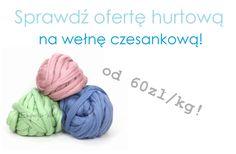 hurt wełna czesankowa diy arm knitting lana wool of tape