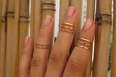Gold Ring  Stacking rings Knuckle Ring Thin gold by HLcollection, $25.00
