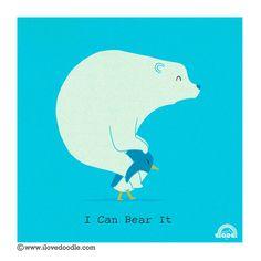 I can bear it #ilovedoodle #design #art