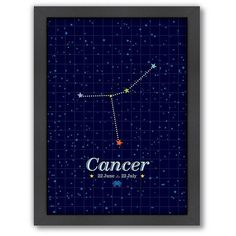 Americanflat Patricia Pino ''Cancer'' Framed Wall Art ($66) ❤ liked on Polyvore featuring home, home decor, wall art, multicolor, framed wall art, colorful wall art, colorful home decor and vertical wall art