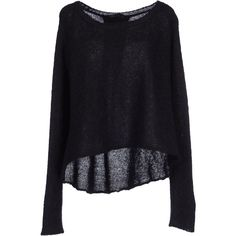 Pinko Black Jumper (950 DKK) ❤ liked on Polyvore featuring tops, sweaters, shirts, jumpers, black, black long sleeve top, longsleeve shirt, long sleeve jumper, lightweight long sleeve shirt and wool long sleeve shirt