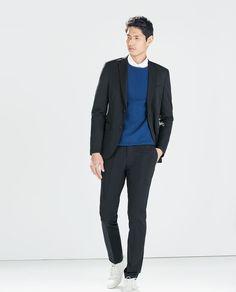 Image 1 of COATED COTTON BLAZER from Zara