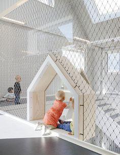 Children's drawings inspire COBE's kindergarten in Copenhagen Kindergarten Architecture, Kindergarten Interior, Kindergarten Design, Design Maternelle, Playground Design, Indoor Playground, Modern Kids, Cafe Interior, Interior Design