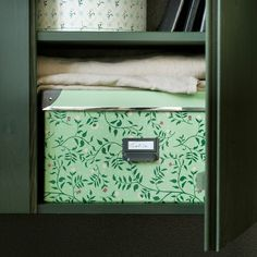 IKEA - FJÄLLA Storage box with lid light green, flower patterned Hemnes, Flower Patterns, Print Patterns, Recycling Process, Recycling Facility, Storage Boxes With Lids, Waste Paper, Inside The Box, Box With Lid