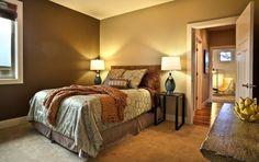 Hálószoba a barna finom árnyalataival