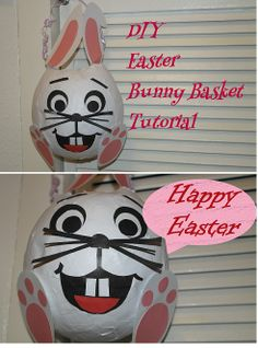Easter gift Ideas! How to make a Easter bunny :) my latest video tutorial shows how to craft a cute easter bunny basket. you can download all pieces for free on my blog www.pelinsparks.com Here`s the link to the vid :)  https://www.youtube.com/watch?v=Oxy5GQZnEtk Happy Easter
