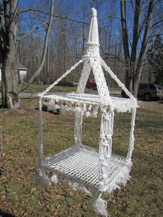 Handmade Macrame Hanging Table Wedding Decor by GoshenPickers