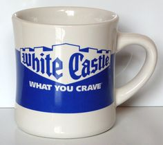 White Castle Coffee Tea Cup Mug Restaurant  What You Crave