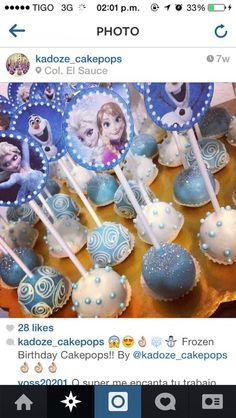 Frozen CakePops#