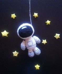 Astronaut. PDF file amigurumi crochet pattern. by CitrouilleWorld