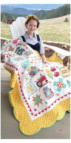 Farm Quilt Patterns, Vintage Quilts Patterns, Sewing Patterns, Antique Quilts, Doll Patterns, Colchas Country, Quilt Border, Quilt Top, Farm Animal Quilt