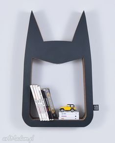 Półka książki zabawki hero ecoono czarny pokoik dziecka chłopiec