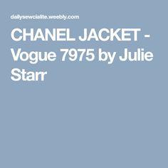 CHANEL JACKET - Vogue 7975 by Julie Starr