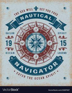 Nautical Design, Vintage Nautical, Nautical Art, Pencil Illustration, Graphic Illustration, Nautique Vintage, Free Vector Images, Vector Free, Compass Rose