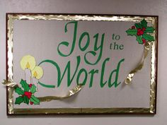 Christmas Church Bulletin Board