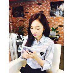 Queen Dara with purple lipstick