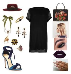 """""""&"""" by ohbabyimrachel ❤ liked on Polyvore featuring River Island, Dolce&Gabbana, Alexandre Birman, Christys', Dsquared2, Chanel and Lalaounis"""
