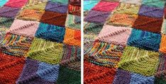 winsome knitted patchwork recipe | the knitting space