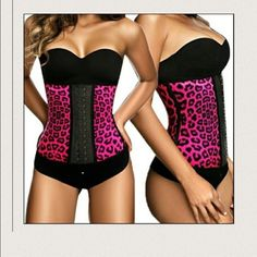 """ANIMAL PRINT 9 STEEL BONED LATEX WAIST TRAINER ALWAY GO BY THE SIZE CHART  XS- 24 to 26"""" waist  Sm- 26 to 28"""" waist  M - 28 to 30"""" waist L - 30 to 32"""" waist  Xl - 32 to 34"""" waist 2xl 34 to 36 """" waist  3xl- 36 to 39"""" waist AVAILABLE IN BLACK. PURPLE . PINK. AND BLUE .   TOP QUALITY  Black 9 steel boning 100 % Latex Corset Waist Trainer This Highly Aggressive high compression waist trainer short corset was specifically made to help reduce your waist tummy , and back measurements ! the full…"""
