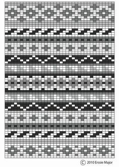 fair isle pattern - beautiful as an embroidery pattern too. border ideas for fair isle designs Fair Isle Knitting Patterns, Knitting Blogs, Knitting Quotes, Knitting Charts, Knitting Projects, Knitting Ideas, Free Knitting, Embroidery Patterns Free, Rugs