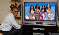 Tonie Chisholm Miss Cayman Islands, Adorya Baly Miss British Virgin Islands, Lisa Marie White Miss Singapore and Idubina Rivas Miss El Salvador watch live Obama