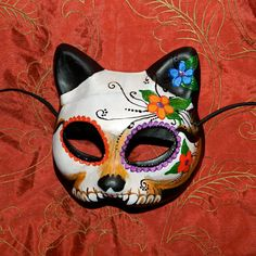 RESERVED LISTING for Ami Day of the Dead Mask Dia by Masquefaire, $45.00