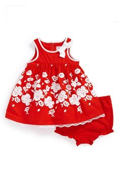 Us Angels Embroidered Sleeveless Dress (Baby Girls) available at #Nordstrom