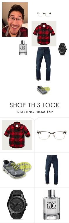 """""""#markiplier """"Lucky"""" Flannel Set"""" by abbyvg-99 on Polyvore featuring Abercrombie & Fitch, Dita, 3x1, FOSSIL, Giorgio Armani, men's fashion and menswear"""