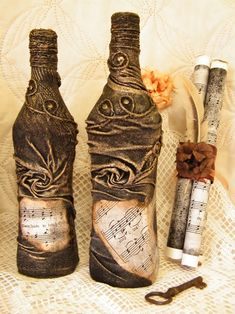 Бутылка декорированная носком....