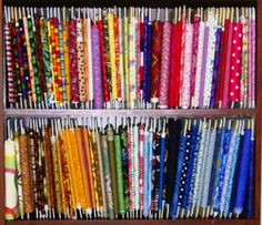 Fabric storage.  Awesome!!  Buy the holders here.