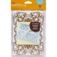 Flourish Emblem (5 x 7) - Cuttlebug Cut & Emboss Dies - Cricut