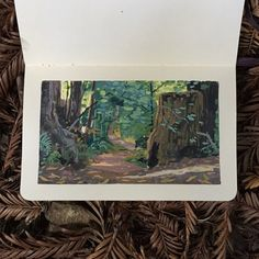 From a sketch workshop with coworkers. The woods are tough!
