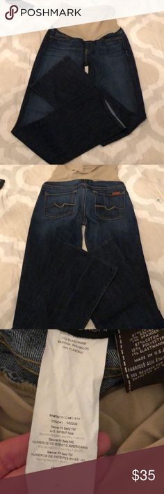 0c9d3ae691 7 for all mankind maternity jeans size 25 size 4 Super nice pair of 7 for  all mankind maternity jeans in a dark wash. They are a size 25 or size In  ...